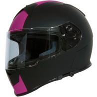 Torc T-14 DOT-Approved Full Face Motorcycle Helmet with Speed and Style Racing Stripes in Pink - Overview