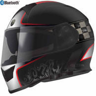 Torc T-14 Full Face Helmet with Blinc Bluetooth in Black with Champion Graphic - Overview