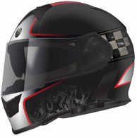 "Torc T-14 DOT-Approved Full Face Motorcycle Helmet with  Black Paint and ""Champion"" Graphics in Red - Overview"