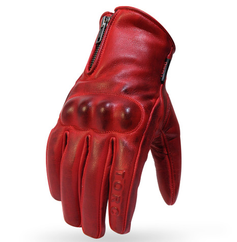 Torc Beverly Hills Leather Motorcycle Gloves in Red