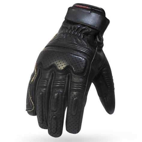 Torc Fullerton Leather Moto Gloves in Black