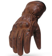 Torc Donner Leather Motorcycle Gloves in Antique Brown