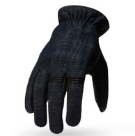 Torc Hollywood Leather/Denim Moto Gloves in Brown