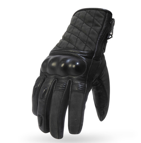 Torc Kanan Armored Leather Moto Gloves in Black