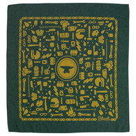 Biltwell Camp Mandana Bandana in Camp Green/Gold