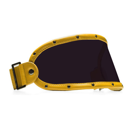 Equilibrialist Knox Visor for Gringo Helmets with Yellow Trim and Tinted Lens