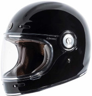 Torc T-1 Retro Full Face Moto Helmet in Gloss Black