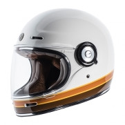 Torc T-1 Retro Full Face Moto Helmet in Iso Bars Finish