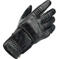 Biltwell Borrego Moto Riding Glove in Black/Black - Top Right