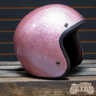Daytona Cruiser 3/4 Moto Helmet in Pink Metal Flake - Overview
