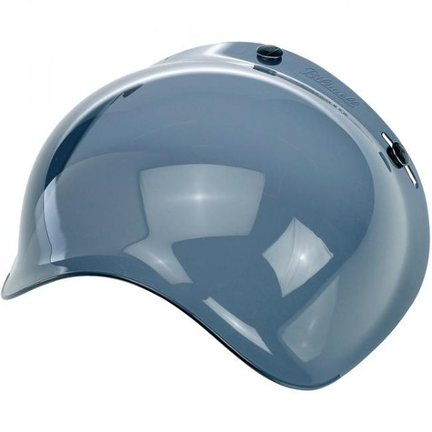 Biltwell Bubble Shield for 3-snap helmets in Smoke - Left Overview