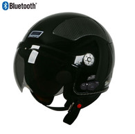 Origine Pilota Jet-Style 3/4 Motorcyle Helmet with Blinc Bluetooth in Gloss Black