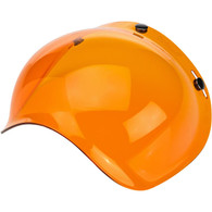 Biltwell Bubble Shield for 3-Snap Helmets in Amber Orange - Overview