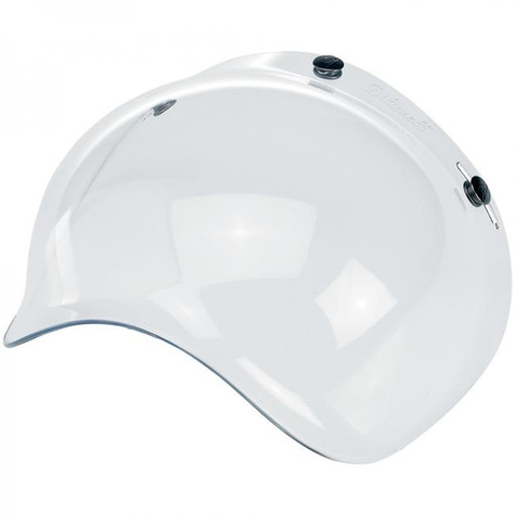 Biltwell Bubble Shield for 3-snap helmets in Clear - Overview Left