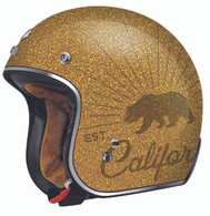 "BLOWOUT! Torc DOT 3/4 Helmet ""Grizzly"" - Gold Flake"