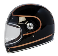 Torc T-1 Retro Full Face Moto Helmet in Copper Pin Finish