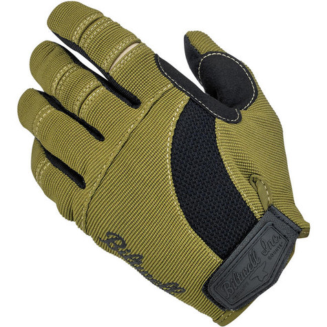 Biltwell Moto Gloves in Black and Olive - Top