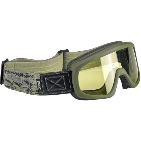 Biltwell Overland 2.0 Motorcycle Goggles in Grunt Olive - Front Right
