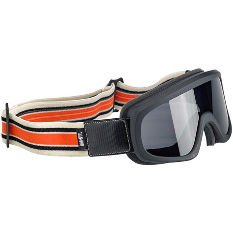 Biltwell Overland 2.0 Motorcycle Goggles in Racer Black C/O - Front Right