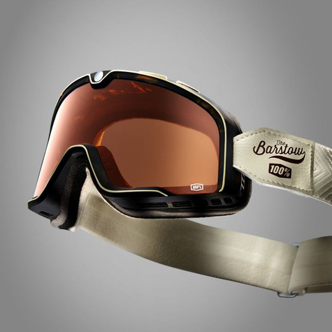 100% Barstow Motorcycle Goggles in Louis - Top View