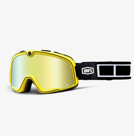 100% Barstow Motorcycle Goggles in Burnworth - Side View
