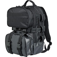 Biltwell EXFIL-48 Moto Backpack Storage Bag in Black - Rear Overview