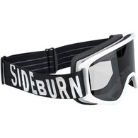 Biltwell Moto 2.0 Motorcycle Goggle in Sideburn White Design - Side
