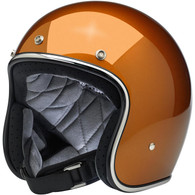 Biltwell Bonanza Motorcycle Helmet in Gloss Copper - Front Right
