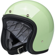 Biltwell Bonanza Motorcycle Helmet in Gloss Mint - Front Left