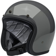 Biltwell Bonanza Motorcycle Helmet in Storm Grey - Front Left