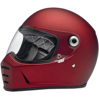 Biltwell Lane Splitter Moto Helmet in Flat Red - Overview
