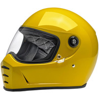 Biltwell Lane Splitter Moto Helmet in Safe-T Yellow - Overview