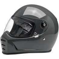 Biltwell Lane Splitter Moto Helmet in Storm Grey - Overview