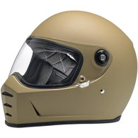 Biltwell Lane Splitter Moto Helmet in Flat Coyote Tan - Overview