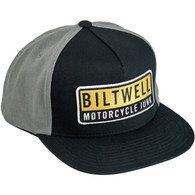 Biltwell Junker Snap Back in Black/Grey/Yellow - Overview