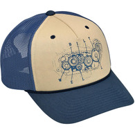 Biltwell 4-Cam Snap Back in Blue/Beige - Overview