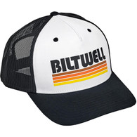 Biltwell Surf Snap Back in Black/White/Orange - Overview