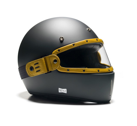 Equilibrialist Leo Maska Visor - Yellow/Clear - On Helmet, Overview