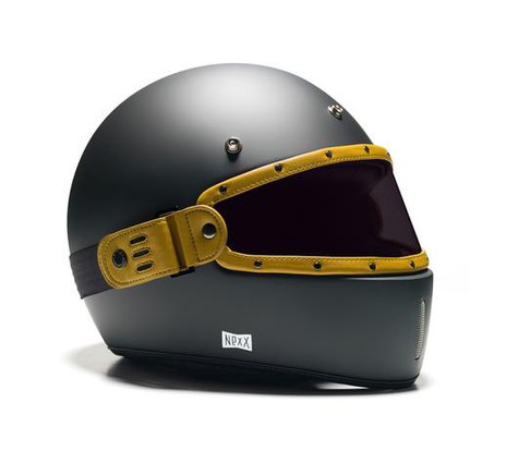Equilibrialist Leo Maska Visor - Yellow/Tinted - On Helmet, Overview