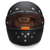 Daytona Retro Full Face DOT Helmet in Flat Black/Orange - Front