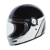 Torc T-1 Retro Full Face Moto Helmet in Dreamliner Grey Finish