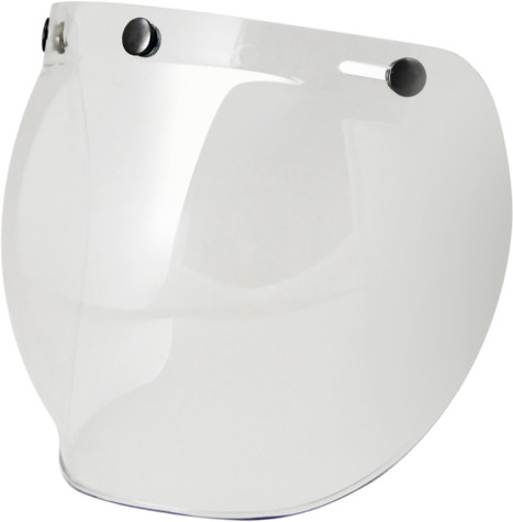 Torc Bubble Shield For 3-Snap Open Face Helmets - Clear
