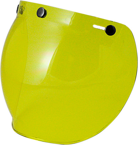 Torc Bubble Shield For 3-Snap Open Face Helmets - Yellow