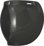 Torc Bubble Shield For 3-Snap Open Face Helmets - Dark Smoke