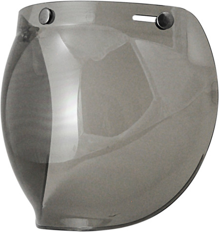 Torc Bubble Shield For 3-Snap Open Face Helmets - Light Smoke