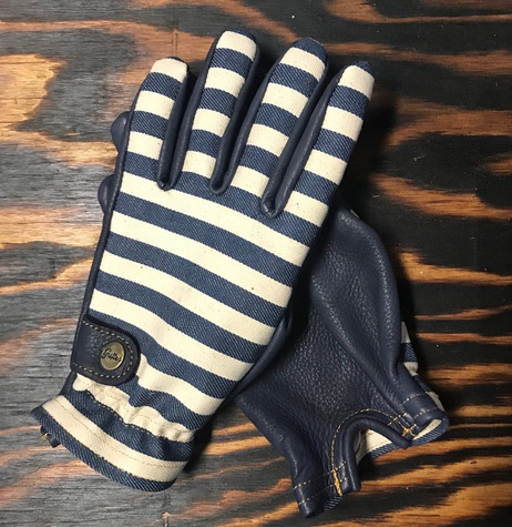 Grifter Wool-Lined Herringbone Leather Ranger Gloves - Top/Bottom