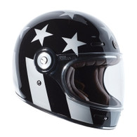 Torc T-1 Retro Full Face Moto Helmet in Captain Vegas Finish
