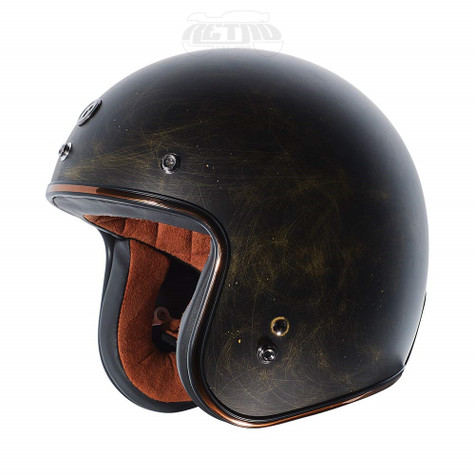 Torc T-50 Moto Helmet in Weathered Bronze - Left Side