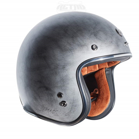 Torc T-50 Moto Helmet in Weathered Silver - Right Side