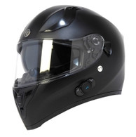 Torc T-15 DOT-Approved Full Face Motorcycle Helmet w/Blinc in Flat Black - Overview